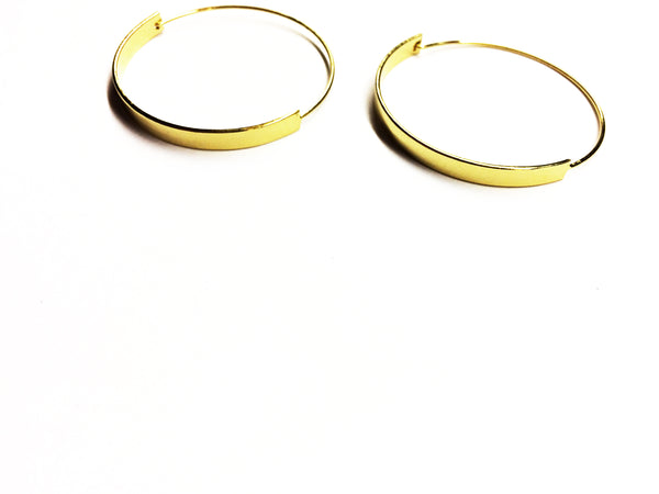 Thick & Thin Gold Hoops