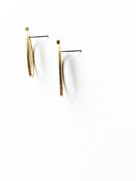 Deco Gold Stud Earrings
