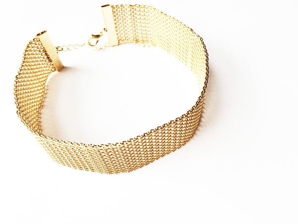Gold Chainmail Statement Choker