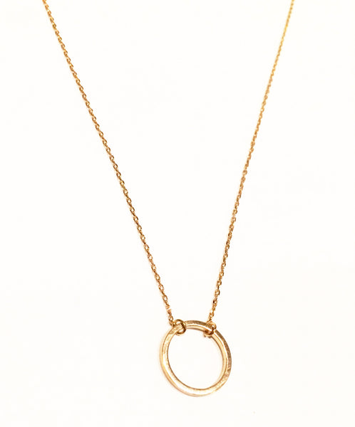 The Little Gold Hoop Necklace