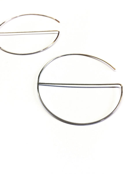 Half-A-Hoop-La Silver Earrings