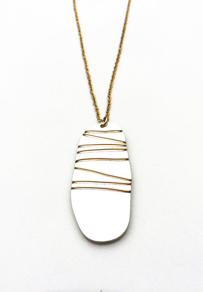 Skimming Stone Necklace