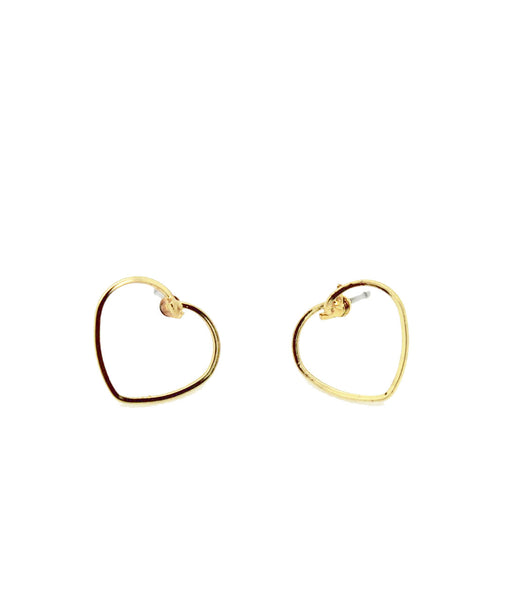 Have My Heart Gold Stud Earrings