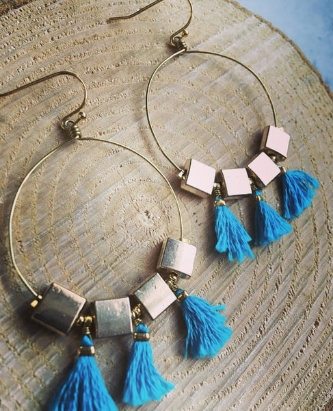 Miami Vice Fringe Hoops
