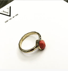 Coral Reef Gold Ring