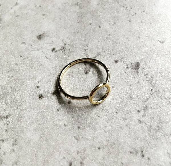 Delicate Total Eclipse Ring