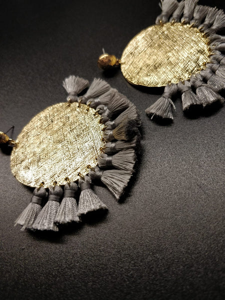 The Maui Fringe Disc Earrings
