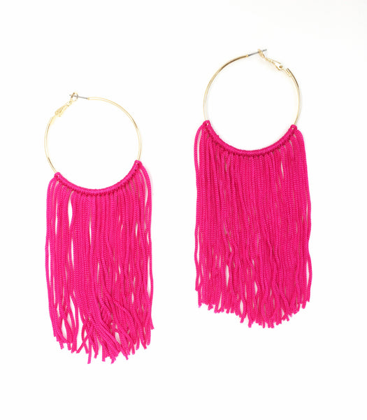 Fiesta Tassel Hoop Earrings