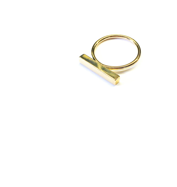 Straight Edge Gold Ring