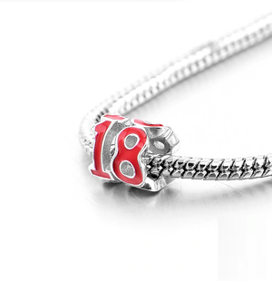 18 Years of Love Charm Sterling Silver