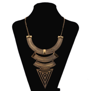 Bold Triangle Antique Statement Necklace | Gypsy Necklace
