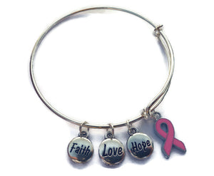 Breast Cancer Bracelet - Cancer Awareness Bracelet