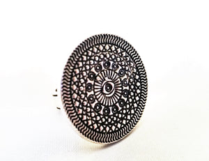 Gypsy Mandala Statement Ring | Loulu Charms