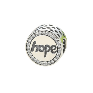 Hope Charm Sterling Silver Fits Pandora Bracelet | Loulu Charms