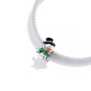 Colorful Snowman Charm Sterling Silver | Loulu Charms