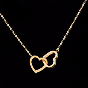 Tiny Double Heart Necklace