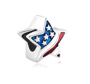 USA Flag Star Charm