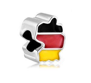 Germany Flag Map Charm