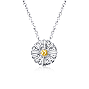 Daisy Flower Necklace Sterling Silver for Women | Loulu Charms