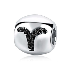 Aries Horoscope Charm Sterling Silver | Loulu Charms