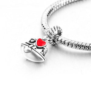 Silver Lovers Boat Charm
