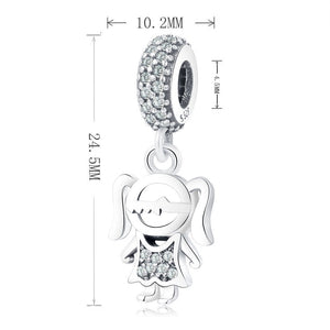 Girl Charm Sterling Silver