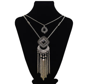 Bohemian Tassel Statement Necklace