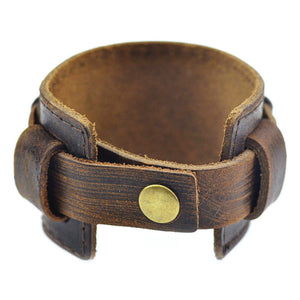 Leather Cuff - Black or Brown