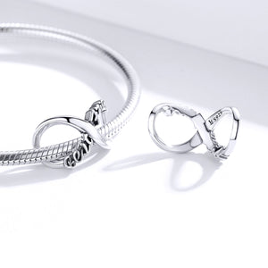 Best Friend Forever Infinity Charm Sterling Silver | Loulu Charms
