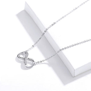 Infinity Family Forever Necklace Sterling Silver | Loulu Charms