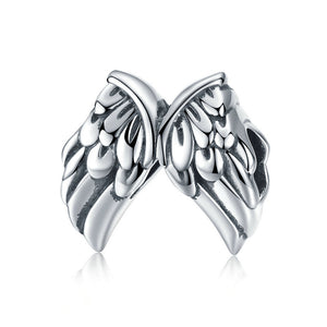 Angel Feather Wings Charm Sterling Silver for Charm Bracelet | Loulu Charms