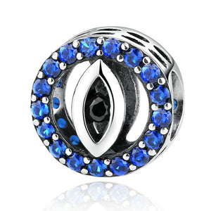 All-Seeing Evil Eye Crystal Charm Sterling Silver | Loulu Charms