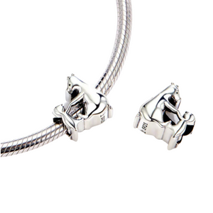 Mama Bear and Baby Bear Charm Sterling Silver | Loulu Charms