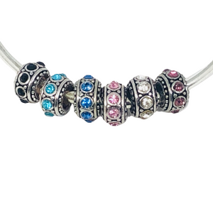 Sparkle Spacer Charm fit Pandora bracelet | Loulu Charms