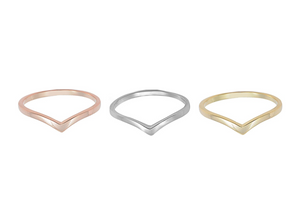 Chevron Ring - Wishbone Ring | Loulu Charms