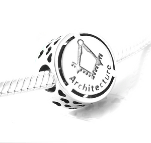 Architecture Charm Sterling Silver - Architect Charm | Loulu Charms