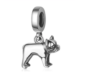 Adorable French Bulldog Dangle Charm Sterling Silver | Loulu Charms