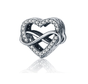 Endless Love Infinity Heart Charm Sterling Silver  | Loulu Charms