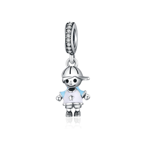Little Boy Charm Sterling Silver