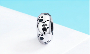 Dog Paws Bead Sterling Silver