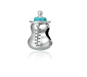Baby Milk Bottle Charm Sterling Silver