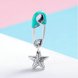Baby Boy Pin Charm Sterling Silver