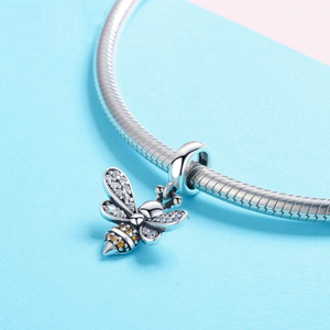 Bee Charm Sterling Silver