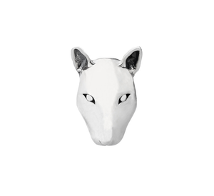 Bull Terrier Head Charm Sterling Silver