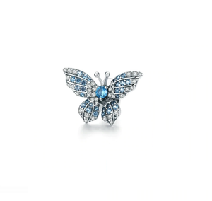 Blue Butterfly Charm Sterling Silver | Loulu Charms