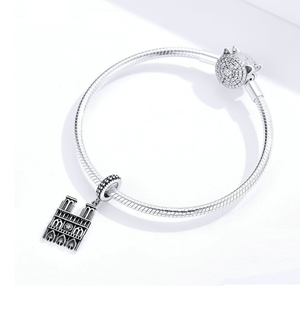 Notre Dame cathedral Charm Sterling Silver