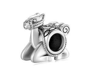 Sitting Camel Charm Sterling Silver | Loulu Charms