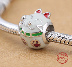 Kitty Cat Charm Sterling Silver