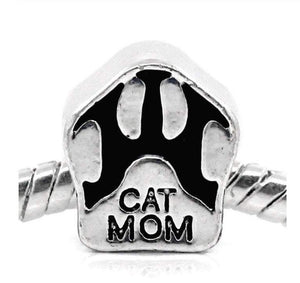Silver Cat Mom Charm | Loulu Charms