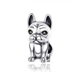 French Bulldog Charm Sterling Silver